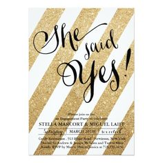 How to Gold Glitter Stripe Engagement Party Invitation We provide you all shopping site and all informations in our go to store link. You will see low prices on