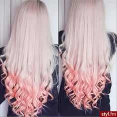 blonde with pink tips