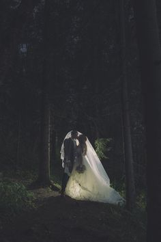 Fairytale wedding in the woods // Tromsø, Norway
