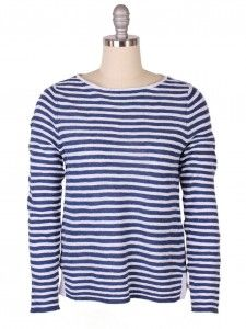 Eileen Fisher Stripe Organic Linen & Cotton Sweater
