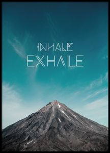 Nice mindfulness poster, print with the text, Inhale Exhale. A very nice typography print in mindfulness style with a stylish photo of mountains and sky. You can find more stylish prints in our webshop where you shop online for a good price. Inhale Exhale Tattoo, Framed Art Prints, Poster Prints, Photo Pillows, Photo D Art, Yoga Meditation, Wall Art Pictures, Typography Prints, Portugal