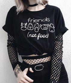Friends (not food) graphic print tee - #vegan #tee #style #grunge