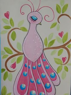 SALE Pretty Peacock Kids Wall Art Hanging by outtatheblue on Etsy, $80.00