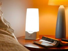 Called HappyLight, this line of sunshine supplement systems comes from Verilux, which has been creating ways to simulate natural daylight since 1956. When sunlight is unavailable, these light therapy lamps can trigger your own natural energy enhancers and help you to focus and feel revitalized. The compact HappyLight 6000 easily fits on a desktop or counter, and the larger Deluxe model can be mounted on the wall. The Rise & Shine Natural Wake-Up Light is designed for the bedside table.