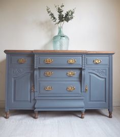 Painted in soapstone by fusion mineral paint large Edwardian sideboard now available Grey Painted Furniture, Paint Furniture, Repurposed Furniture, Shabby Chic Furniture, Furniture Makeover, Painting Antique Furniture, Leather Furniture, Vintage Furniture, Painted Buffet