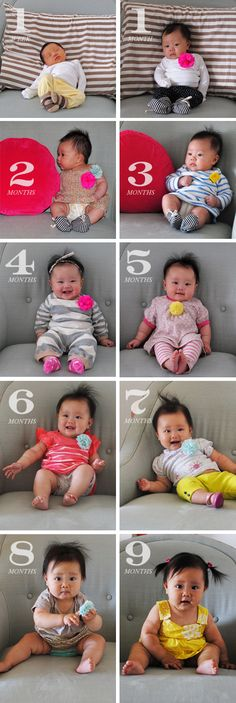 Cute Month by Month Baby Pictures