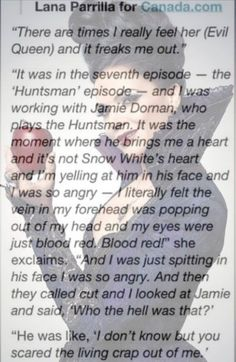 Lana talking about being the Evil Queen...haha!