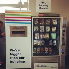 An Edmonton Public Library book vending machine