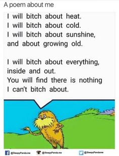 Dr Seuss for adults LOL