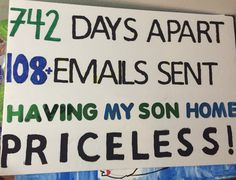 Missionary Homecoming Poster idea (for the mother/father)