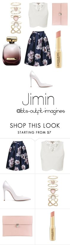 """""""Colleague look for Jimin"""" by bts-outfit-imagines ❤ liked on Polyvore featuring Lipsy, Gianvito Rossi, Accessorize, Alexander McQueen, Napoleon Perdis and Nina Ricci"""