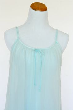 60s Vintage Nightgown Babydoll in Powder Blue by pinebrookvintage, $20.00  NEW!!! A dreamy vintage nitey in powder blue.