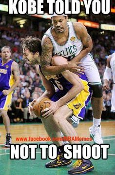 Kobe told you not to shoot! #Gasol #Lakers #NBA