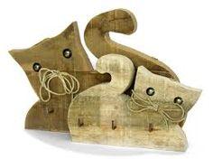 Risultati immagini per pinterest gatti di legno