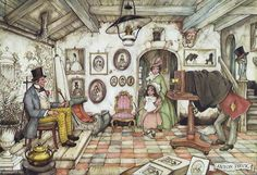 By Anton Pieck I like his pictures because they contain so many items of interest,