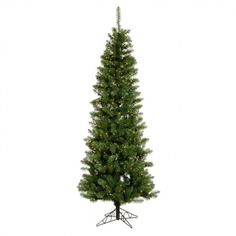 Artificial Christmas Tree 7.5 Ft Clear LED Lighted Holiday Xmas Pine Green  #easy_shopping08