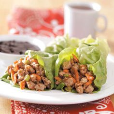 Sweet-n-savory Chicken Lettuce Wraps