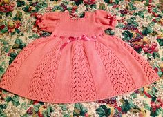 Ravelry: Project Gallery for Lacy Tunic / Baby Dress pattern by Mama Aurica