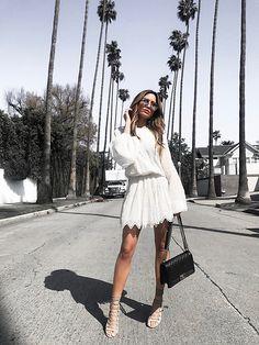 Jessi Malay - Magali Pascal Harmony Dress, Chanel Medium Quilted Boy Bag, Aquazurra Amazon Lace Up Sandals, Dita Talon Two Sunglasses - California Dreamin: The Perfect LWD
