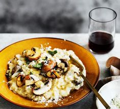 Mushroom and mascarpone risotto :: Gourmet Traveller - Recipes, Food, Cooking, Meals preparation - Easy Cooking and Food Recipes Filet Mignon Chorizo, Polenta Crémeuse, Fall Recipes, Dinner Recipes, Thanksgiving Recipes, Vegetarian Recipes, Cooking Recipes, Easy Cooking, Vegetable Recipes