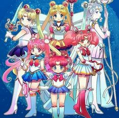 Eternal Sailor Moon/Sailor Chibi Moon/Parallel Sailor Moon/Sailor Cosmos/