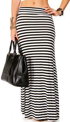 #Windsor                  #Skirt                    #BlackWhite #Stripe #Maxi #Skirt                    BlackWhite Stripe Maxi Skirt                                                  http://www.seapai.com/product.aspx?PID=1759503