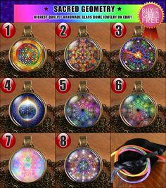 Sacred Geometry Tibetan Tibet Buddha Charm Charms Pendant Necklace Jewelry Gift #Handmade