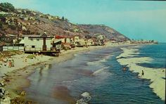 Carbon Beach,Malibu,California. We stayed along here in the late 50's, early 60's..in the old wooden cabins right on Coast hiway 1 !!