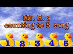 Help your early math learners count to 5 and develop one-to-one correspondence with this fun math song from Mr. Teaching Activities, Help Teaching, Teaching Math, Maths, Counting Songs, Skip Counting, Math Poems, Number Song, Kindergarten Songs