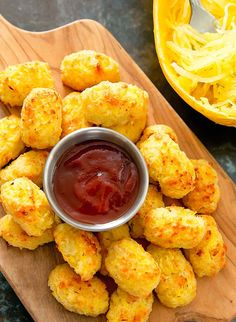 These spaghetti squash tots are a healthier alternative to traditional tater tots and a great way to get an extra dose of vegetables into your diet.