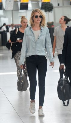 Rosie Huntington-Whiteley - Heathrow airport in London 06/05/2015