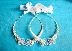 Greek Orthodox Wedding Crowns | Vintage Stefana Pair | Bridal Crown Set
