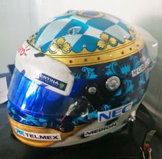 Adrian Sutil's special helmet for the German Grand Prix