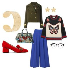 """""""Untitled #21"""" by crookedcrowncampaign on Polyvore featuring P.A.R.O.S.H., 2NDDAY, Gucci, Isabel Marant and Jennifer Meyer Jewelry"""