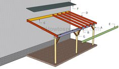Pergola Plans Pergola Plans Plans Plans attached to house Plans design Plans diy Plans how to build Plans roofs Plans step by step Pergola Plans How to build an attached carport Lean To Carport, Building A Carport, Lean To Roof, Carport Plans, Carport Garage, Pergola Carport, Curved Pergola, Pergola Attached To House, Pergola With Roof