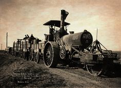 Steam Engine Tractor Train  1908 Poster by Daniel Hagerman.  All posters are professionally printed, packaged, and shipped within 3 - 4 business days. Choose from multiple sizes and hundreds of frame and mat options.