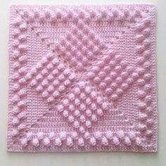 Transcendent Crochet a Solid Granny Square Ideas. Inconceivable Crochet a Solid Granny Square Ideas. Crochet Afghans, Bobble Crochet, Crochet Quilt, Crochet Blocks, Crochet Pillow, Crochet Blanket Patterns, Baby Blanket Crochet, Crochet Motif, Crochet Stitches