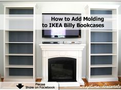 How to add molding to Ikea bookshelves …