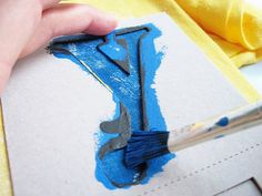 Letter stenciled t-shirts #paint #fabric