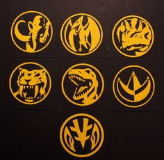 Mighty Morphin Power Rangers Coin Decal by NerdAlert54 on Etsy