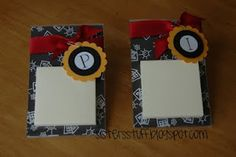 Post-It Note Holders - great, personalized gift for teachers - maybe could gift with a big pack of post-its or gift card to office/school supply store???  90 Days Of Christmas | Frugal Experiments - Part 9