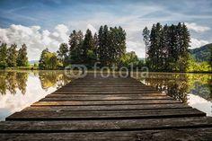 Holzbrettsteg eines Weihers Landscapes, Sidewalk, Nature, Pictures, Photos, Wooden Platters, Boards, Photo Illustration, Paisajes