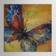 iarts®hand geschilderd olieverf dierlijke vlinder voor de slaapkamer met gestrekte frame 2018 - €42.22