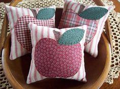 APPLES Bowl Filler Pillow Tucks by rustiquecat on Etsy