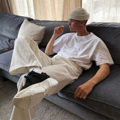 Perfect Mens Street Style Outfit Ideas To Steal This Winter Streetwear Mode, Streetwear Fashion, Streetwear Clothing, Mode Outfits, Trendy Outfits, Outfits For Men, Sport Outfits, Grunge Outfits, Boy Fashion