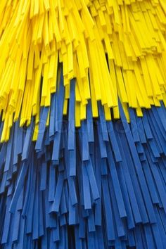 Stock image of 'blue and yellow car wash brush'