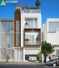 Thiết kế nhà phố đẹp ấn tượng: Thiết kế nhà phố 3 tầng phong cách hiện đại tại Đô...