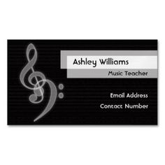 Music Magnetic Business Name Card
