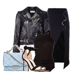 Shop this look Earn Glamhive points to spend at top fashion sites… Fashion Sites, Personal Stylist, Autumn Summer, Biker, Stylists, Leather Jacket, Street Style, Jackets, Outfits