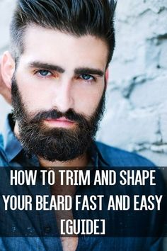 If you plan on growing a long beard, patience is even more important. Make a mistake, and you'll have to start over, losing months of growth. For any length beard trimming is a vital component in your beard maintenance routine. Grow A Thicker Beard, Thick Beard, Beard Growth, Beard Care, Hair Growth, Beard Trimming Guide, Beard Maintenance, Beard Shapes, Face Shapes
